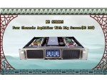 """KE""Four channel intelligent power amplifier with big screen( No DSP )"