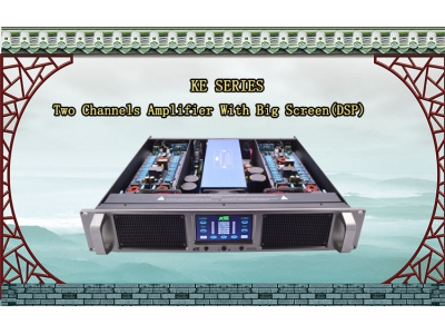 """KE""Two channel intelligent power amplifier with big screen(DSP)"